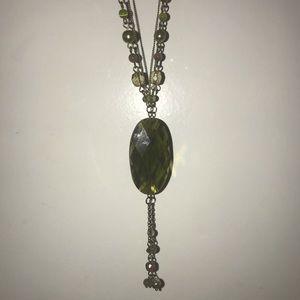 """Lia Sophia Necklace - Green, 21"""" chain"""